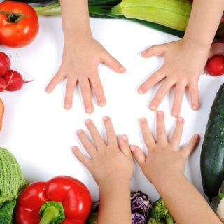 Children, vegetables